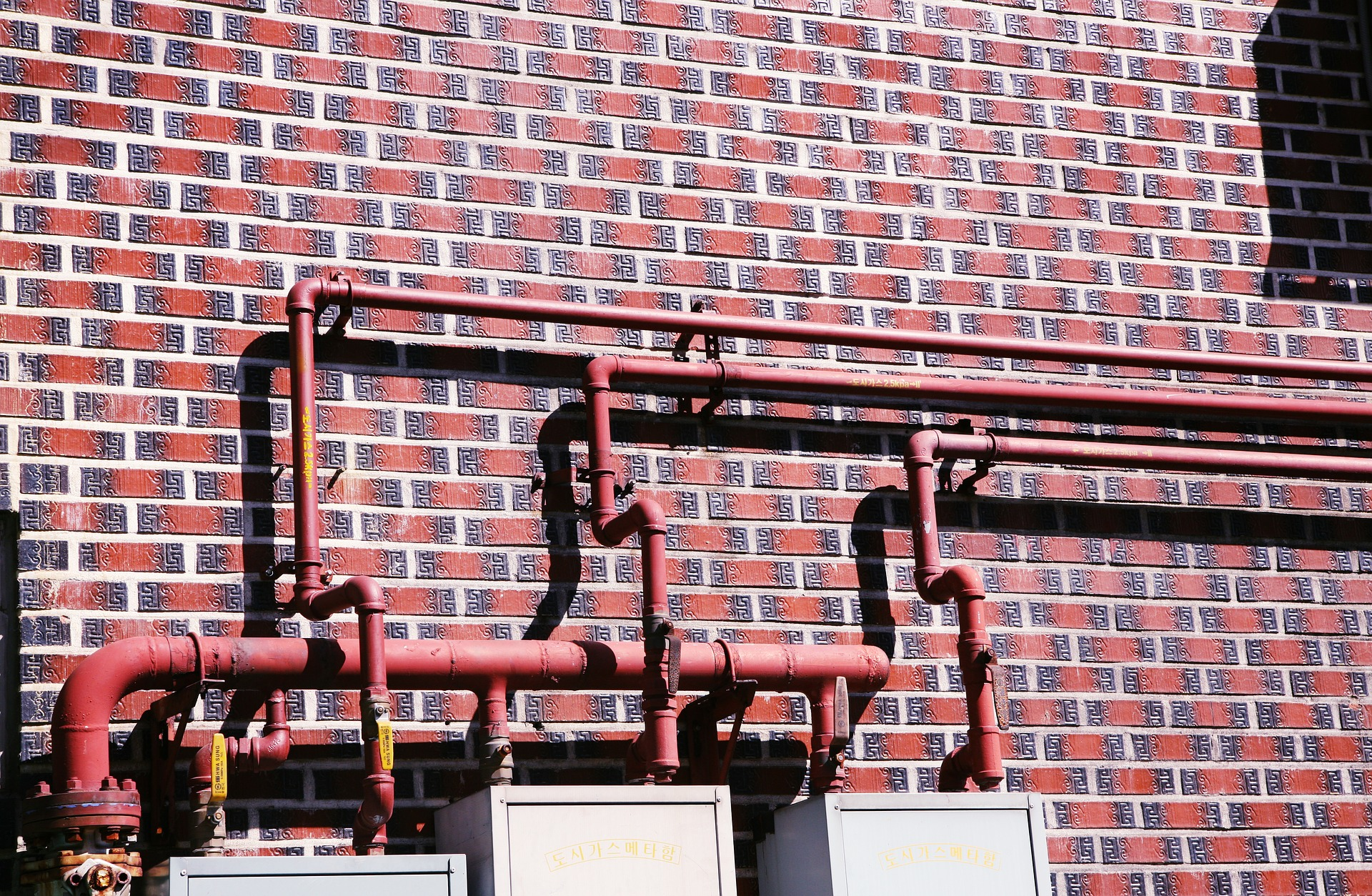 plumbing pipes on house